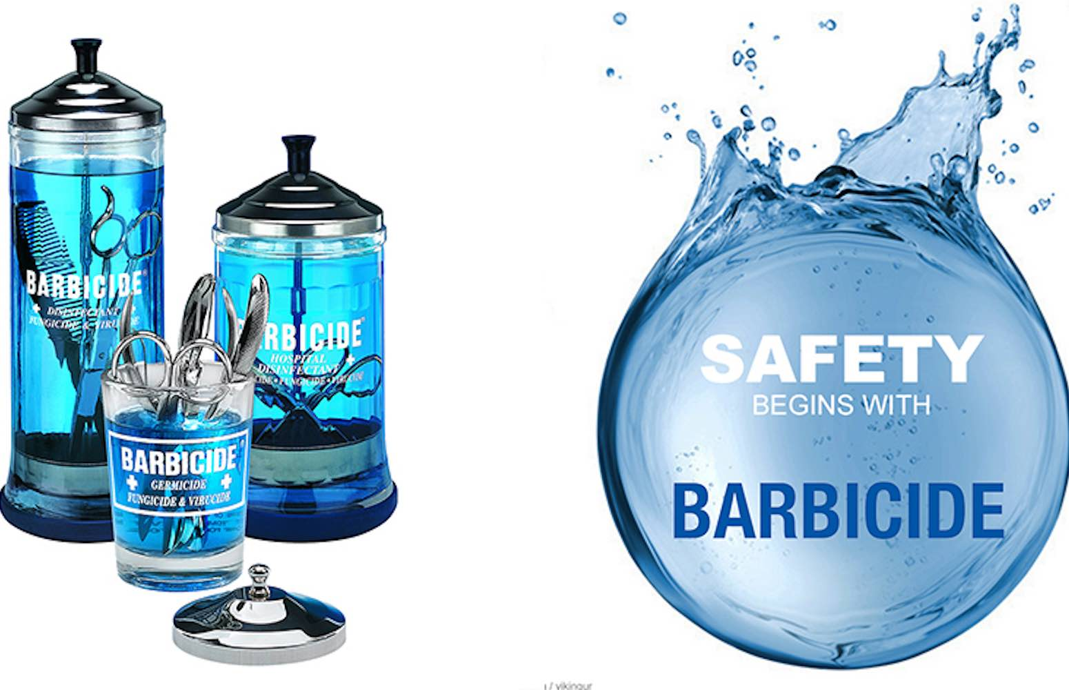 Desinfektion Salon barbercide